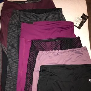 6 pairs of leggings!  Purple and black!